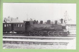 LOUDEAC : Locomotive 0330 T 41. Photo Originale Collection Pérève . TBE. 2 Scans. Format 8.8 X 14 - Trains