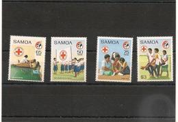 SAMOA    Croix Rouge Année 1989 N°Y/T: 694/697** - Samoa