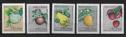 VIET NAM NORD - YVERT N° 392/396 NEUFS - COTE = 22.5 EUR. - FRUITS - Viêt-Nam