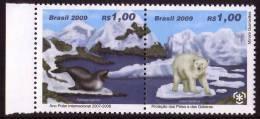 BRAZIL 2009, IPY International Polar Year - Preserve The Polar Regions And Glaciers Pair** - Preservare Le Regioni Polari E Ghiacciai