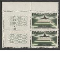 FRANCE 1959  N°YT 1193 **   Paire Et  Coin Avec N° De Feuille  / Service Aérospatial De Nuit /    MNH - Ongebruikt