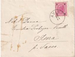 AUTRICHE 1892 LETTRE DE AVIO - Storia Postale