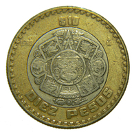 [NC] MESSICO - DIEZ PESOS 1998 BIMETALLICA - Messico