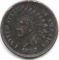 *usa 1 Cent 1867  Fr+ - Emissioni Federali