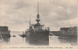 """50 - CHERBOURG - Le Cuirassé """"Léon Gambetta"""" Coulé Dans L' Adriatique (avril 1915) - Cherbourg"""