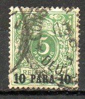 Ex-colonies & Protectorats - LEVANT - (BUREAUX ALLEMANDS) - 1889 - N° 6 - 10 Pa. S. 5 P. Vert - Levant (1885-1946)