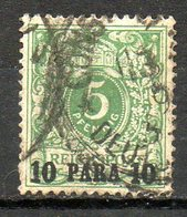 Ex-colonies & Protectorats - LEVANT - (BUREAUX ALLEMANDS) - 1889 - N° 6 - 10 Pa. S. 5 P. Vert - Usados