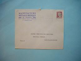 ENVELOPPE PUBLICITAIRE  - Manufacture Metallurgique De TOURNUS  -  71  -  Saône Et Loire  -  1964 - Marcophilie (Lettres)