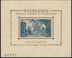 1946 Bloc-Feuillet  Expo Nationale Dudelange, Neuf Sans Charnière, Michel BF6 (2scans) - Blocks & Kleinbögen