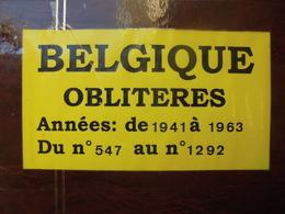 BELGIQUE 1941-1963 OBLITEREES DONT BELLES SERIES (2274) 1 KILO 800 - Belgien