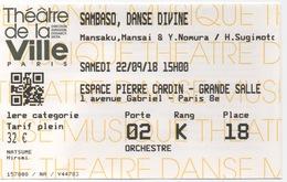 Théâtre De La Ville De Paris : Espace Pierre Cardin : Sambas, Danse Divine : Le 22/09/18 : 32€ - Tickets D'entrée