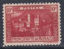 Monaco N° 64 X  Palais Princier 10 F. Carmin Trace De Charnière Sinon TB - Mónaco