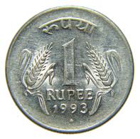 [NC] INDIA - 1 RUPEE RUPIA 1993 - India