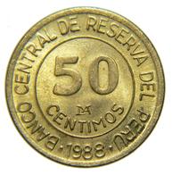 [NC] PERU - 50 CENTIMOS 1988 - Perú