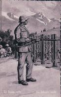 Guerre 14-18, La Suisse Veille, Occupation Des Frontières (202) Petit Accroc - Weltkrieg 1914-18