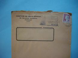 ENVELOPPE PUBLICITAIRE  -  Comptoir De Vente DIAMANT  -  Boulevard Hausmann   -  PARIS -   1964 - Marcophilie (Lettres)