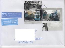 CROATIA: LOCOMOTIVES TRAINS On Circulated Cover - Registered Shipping! Envoi Enregistre! - Treni