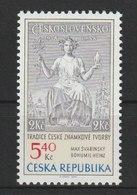 MiNr. 312  Tschechische Republik / 2002, 20. Jan. Tradition Tschechischer Briefmarkengestaltung. - Repubblica Ceca