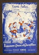 Musica Spartiti Cuori Felici - Rivista Biancaneve I 7 Nani E Le 7 Sorelline 1945 - Vecchi Documenti