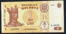 MOLDOVA P8h 1 LEU 2010   # A.0230     VF NO P.h. - Moldova