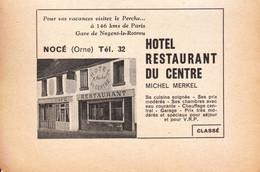 1957 - Iconographie - Nocé (Orne) - L'hôtel Du Centre - FRANCO DE PORT - Old Paper