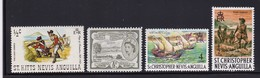 Lot 4 Different Mint - St.Kitts And Nevis ( 1983-...)