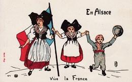 Carte En Franchise Postale Pour Les Militaires En Alsace Vive La France - Marcophilie (Lettres)