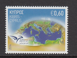 2014 Cyprus Postal Emblem & Mediterranean Sea Set Of 1 MNH - Cyprus (Republic)
