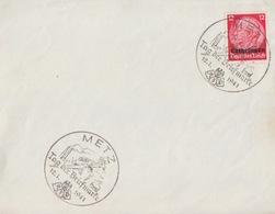 Devant De Lettre De Metz (Metz Tag Der Briefmarke / Bombardier) TP Lothr 12pf Le 12/1/41 - Marcofilia (sobres)