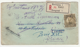 Kingdom SHS, Letter Cover Registered Travelled 1922 B181015 - Lettres & Documents