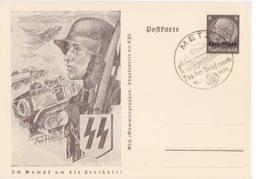 Entier Illustré De Metz (Metz Tag Der Briefmarke / Pont De Bateaux) Entier Lothr 6pf Le 12/1/41 - Alsace Lorraine