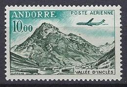 Andorre 1961-64 Y&T N° 8 Poste Aérienne Neuf Et Sans Charnière - Poste Aérienne