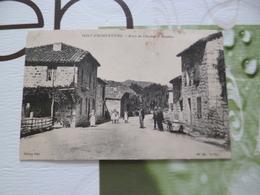 CPA  07 Ardèche  Pont Fromentière Route Du Cheylard à Mézihac Taches Sinon  TBE - Autres Communes