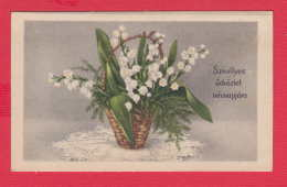 237483 /  Illustrator ?? - Flowers Fleurs Blumen - Bouquet  Lily Of The Valley Maiglockchen SZIVELYES UDVOZLET NEVNAPJAR - Illustrateurs & Photographes