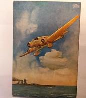 CARTOLINA  L'AEROPLANO SAVOIA MARCHETTI S 81  GABARDI - BRUGGHI   MUSSOLINI - 1939-1945: 2. Weltkrieg