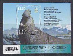 South Georgia 2002 Guinness World Records / Largest Bull Elephant Seal M/s ** Mnh (40952) - Zuid-Georgia