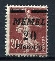 42002) MEMEL # 56 Postfrisch Aus 1922, 45.- € - Klaipeda