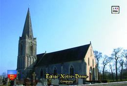 Carte Postale, églises, Churches In France (Calvados), Campigny, Église Notre-Dame (2) - Kerken En Kathedralen