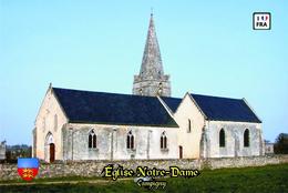Carte Postale, églises, Churches In France (Calvados), Campigny, Église Notre-Dame (3) - Kerken En Kathedralen