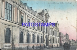 101578 CHILE SANTIAGO UNIVERSIDAD SPOTTED CIRCULATED TO ARGENTINA POSTAL POSTCARD - Chile