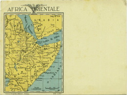 AFRICA ORIENTALE - POSTCARD MAP - SOMALIA - KENYA -ERITREA - ETHIOPIA -  SAUDI ARABIA - YEMEN - 1935 (BG568) - Postcards
