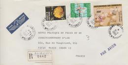 Djibouti Lettre Recommandée De 1983 Pour La France - Djibouti (1977-...)
