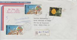 Djibouti Lettre Recommandée De 1984 Pour La France - Djibouti (1977-...)