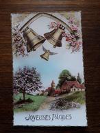 L11/55 Carte Fantaisie . Joyeuses Paques - Easter