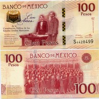 MEXICO        100 Pesos       Comm.       P-130       25.1.2016       UNC  [sign. Sánchez] - Messico