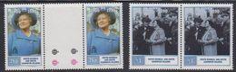 South Georgia 1990 90th. Birthday Queen Mother 2v (pair, 1v Gutter)  ** Mnh (40954A) - Zuid-Georgia