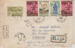 Vietnam Lettre Recommandée De 1966 Pour La France - Viêt-Nam