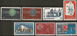 1960:  7 Timbres Neuf Sans Charnière - Luxembourg