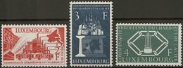 1956: Série CECA 3 Timbres Neuf Sans Charnière Michel: 552-554 - Luxembourg