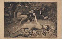 AK 0055  Jentsch , H. G. - Der Sündenfall / Hanfstaengl' S Künstlerkarte Ca. Um 1920 - Malerei & Gemälde